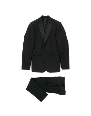 Black Slim-Fit Wool Blend Tuxedo