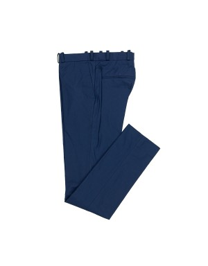 _Blue Cotton Poplin Slim-Fit Trousers