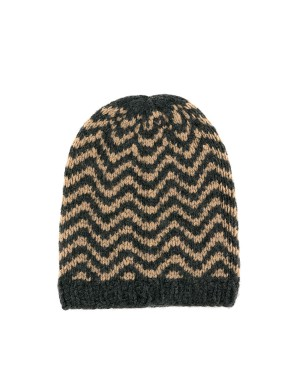 Fanny Anthracite and Camel Beanie