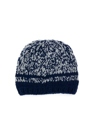 Claus Ink Blue Grey Beanie