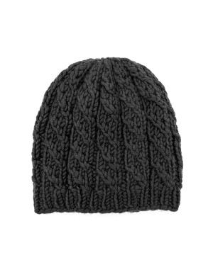 Viggo Grey Cable-Knit Beanie