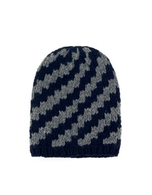Walter Navy and Anthracite Beanie