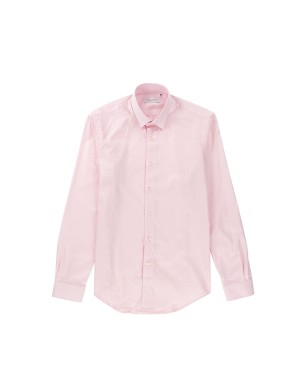 Pink Shirt Small Collar