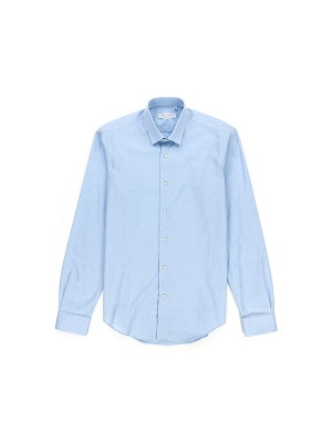 Light Blue Shirt Small Collar