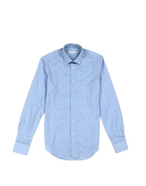 Blue Micro Check Shirt