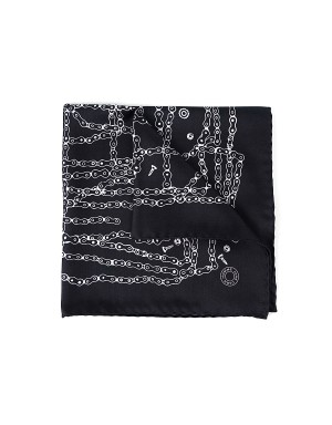 Pocket Square Chain - Black