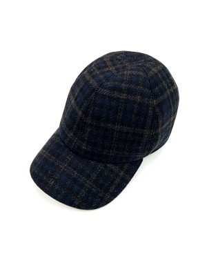 Blue and Brown Checks Cap