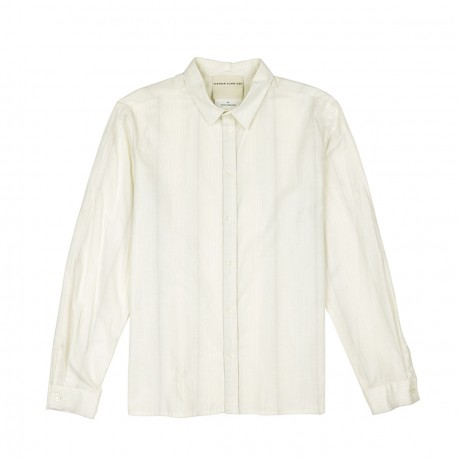 Chemise Ecru Fines Rayures Grise