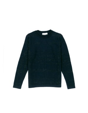 Navy Wool and Alpaca Sweater