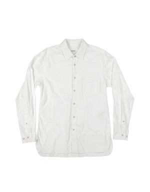 _Off White Washed and Brushed Shirt