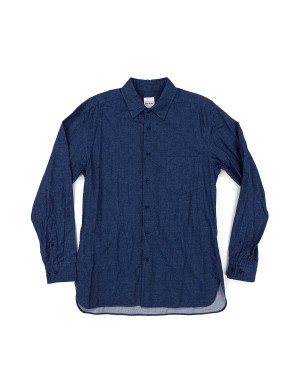 _Indigo Blue Washed and Brushed Shirt