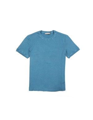 Blue Supima Cotton 60/2 T-shirt