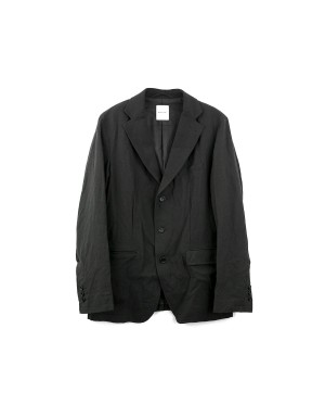 _Charcoal Wool and Linen Jacket
