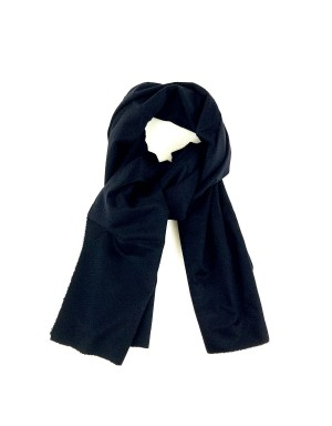 Black Cashmere and Wool Scarf