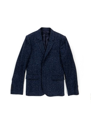 Navy Donegal Woll & Cotton  Jacket