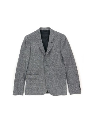 Grey Donegal Wool & Cotton Jacket