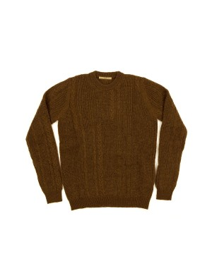 Cable Knit Hazelnut Sweater