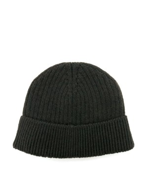 Khaki Wool and Mohair Beanie