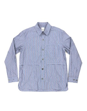 Blue Striped Overshirt