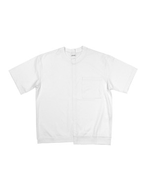 Asymetric White Tee-Shirt