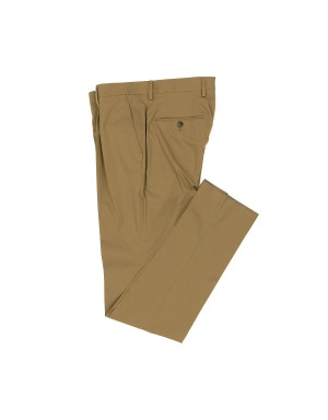 Tobacco Stretch Cotton Trousers