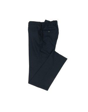 Navy Wool Easy Trousers