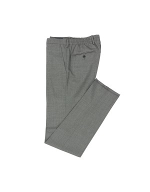 Grey Wool Easy Trousers