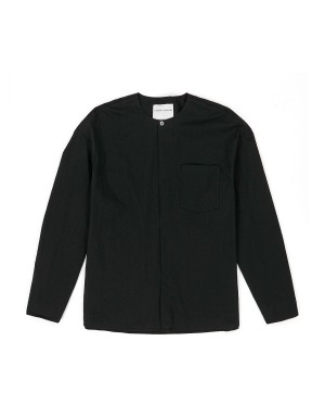 Black Pop-Over Shirt