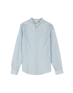 Light Blue Band collar Shirt