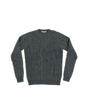 Cable Knit Grey Sweater