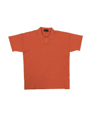 Terracotta Viscose Polo Shirt