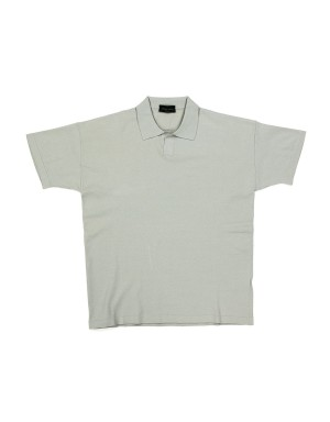 Pearl Grey Viscose Polo Shirt