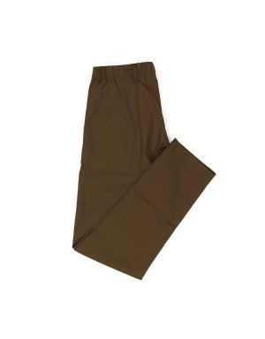 Brown Elastic Waistband Trousers
