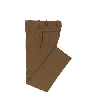 Walnut Cotton Slim Trousers