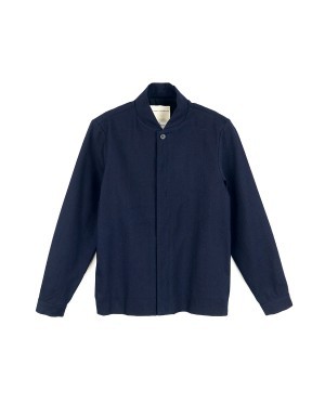 Night Blue Cotton Twill Jacket