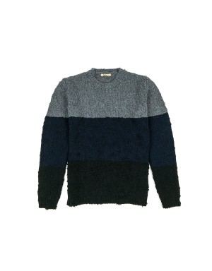 Three colours Distressed Sweater