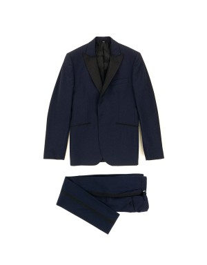 Ink Blue Slim-Fit Wool Blend Tuxedo