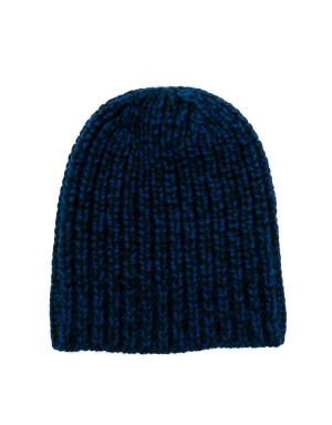 Noa Navy and Black Mélange Beanie