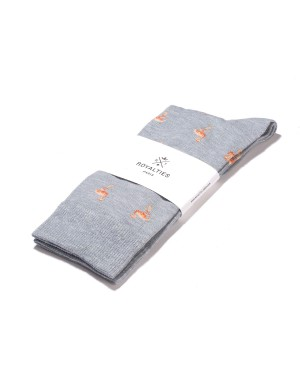 Flamingo Socks Grey