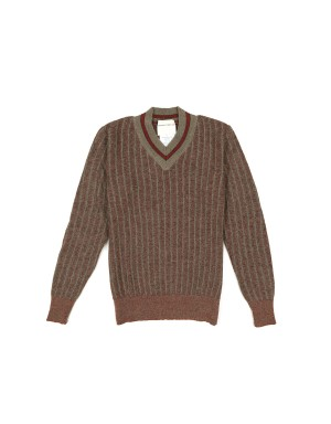 Orange and Sand Wool and Alpaca Sweater