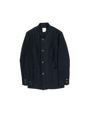 Navy Band Collar Jacket