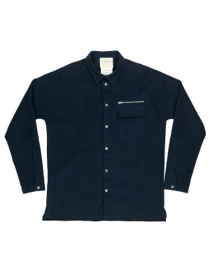 Indigo Soft Cotton Twill Oveshirt