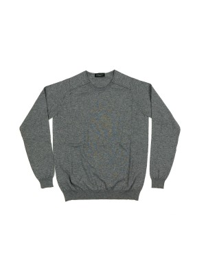 Thin Raglan Sweater Grey Melange