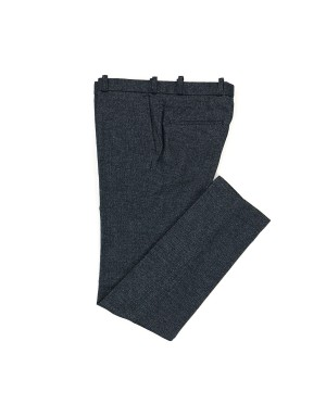 Cotton Flannel Navy Mélange Trousers