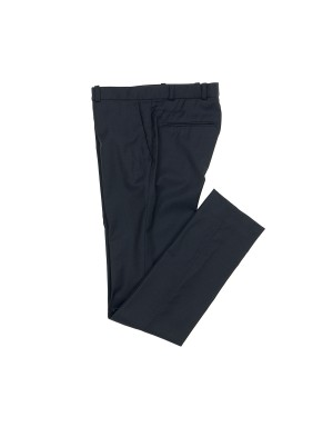 Night Blue Summer Wool Slim-Fit Trousers