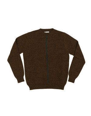 Pull Tabac et Turquoise