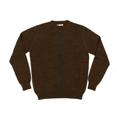 Tobacco with a Vertical Line Sweater