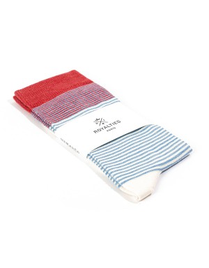 Breton Socks Azur and Red