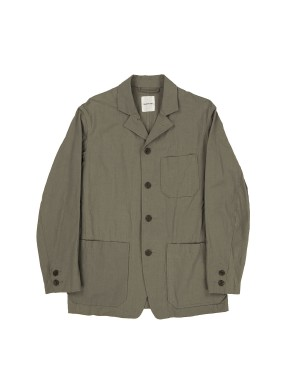 Beige Cotton and Japanese Paper Jacket