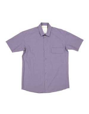 Lilac Cotton Short Sleeves Shirt